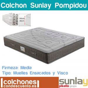 Colchón Pompidou con muelles ensacados y viscoelástica de Sunlay mejor colchon
