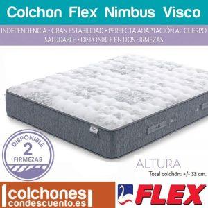Colchón Nimbus viscoélastico con partículas de gel de Flex mejor colchon