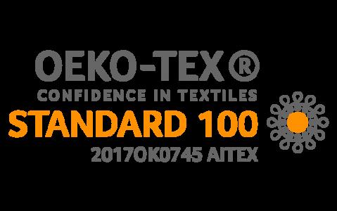 Certificado Oeko-Tex.  Certificado por no usar sustancias nocivas en la elaboración de los productos.