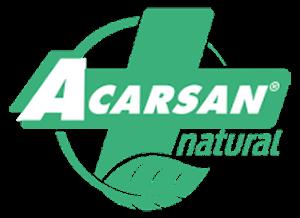 Logo del tratamiento acarsan del fabricante Velfont. Antiácaros