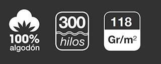 300 hilos