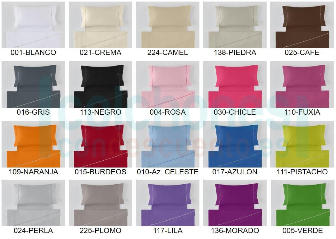 colores disponibles liso biés