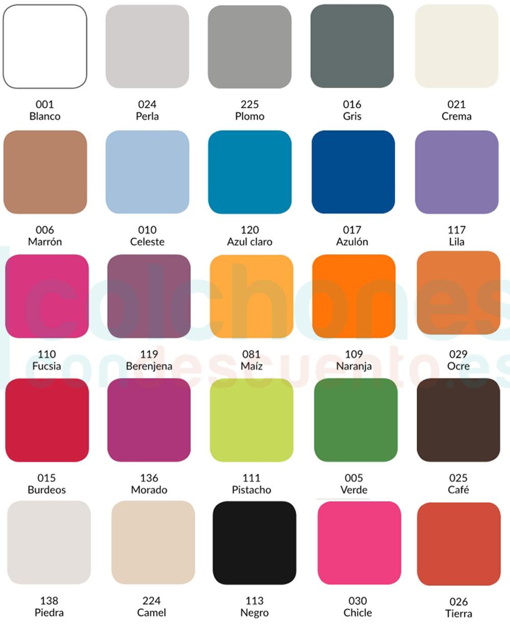 colores sábanas Estelia combi 50/50