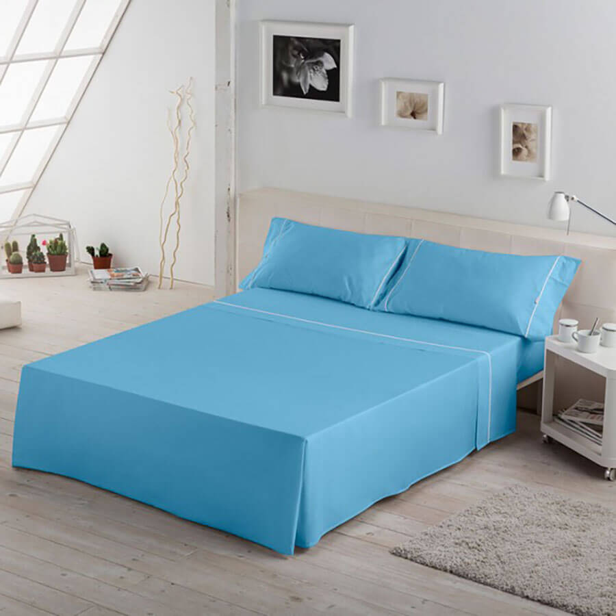 Color Juego de sábanas Biés Cala