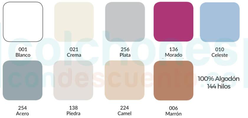 colores disponibles
