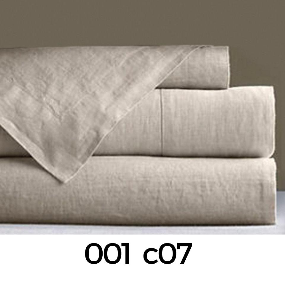 Colores disponibles del juego de sábanas Linen de Manterol