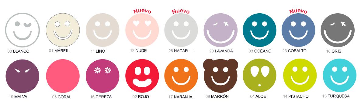 Colores disponibles de las fundas de almohada Happycolor