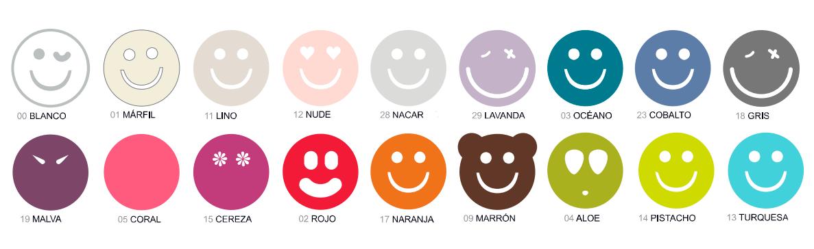 Colores disponibles sábana bajera Happycolor