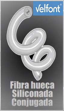 fibra hueca siliconada velfont