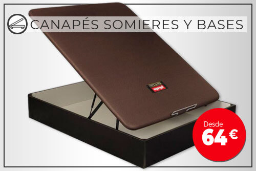 Venta online canape somier base tapizada