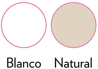 colores blanco y natural